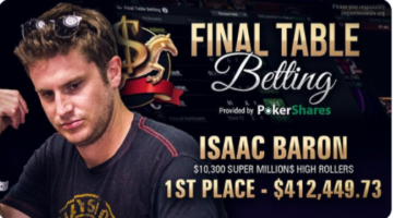 Isaac Baron becomes two-time Super MILLION$ champion