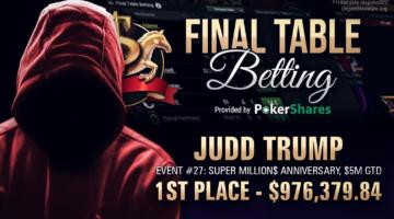 'judd trump' wins Super MILLION$ Anniversary event for $976,379