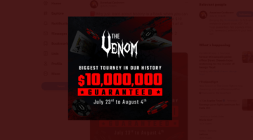 The Venom returns with the biggest prize pool in Winning Poker Network history