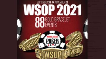 WSOP announces full schedule for 2021 series